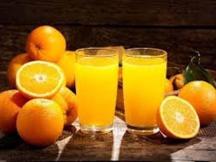 Queda no consumo de suco de laranja