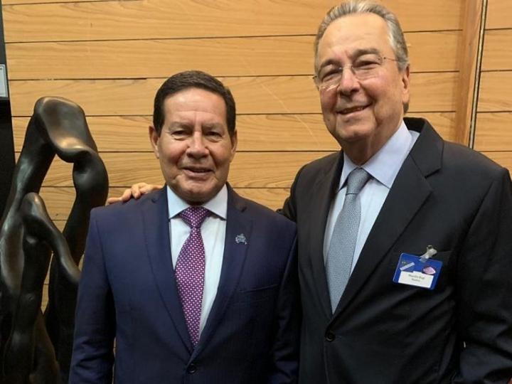 Maurílio Biagi Filho almoça com general Mourão e cobra melhorias na comunicação da Presidência, principalmente no setor de agronegócios