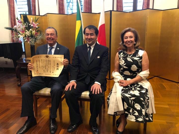 Maurílio Biagi Filho recebe Diploma de Honra ao Mérito do Ministro dos Negócios Estrangeiros do Japão