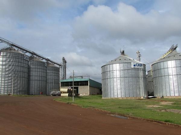 Unidade de Grãos da Coplacana faz armazenamento de soja e milho (Foto: Ozonio Imprensa)