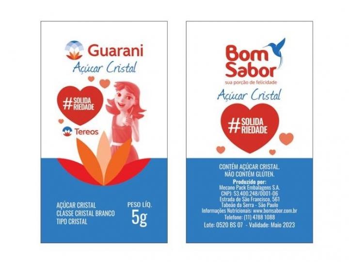 Tereos doa Açúcar Guarani com mensagens de esperança para hospitais