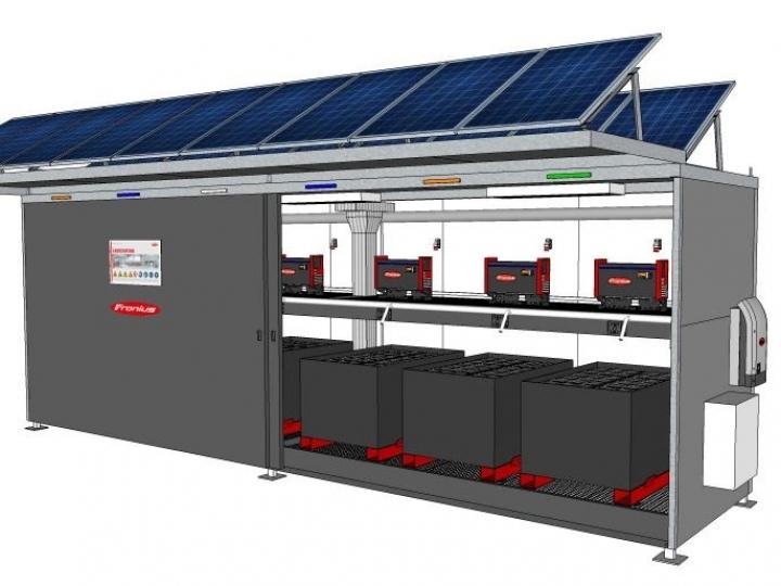 Fronius lança estação de carregamento de baterias para ambientes externos