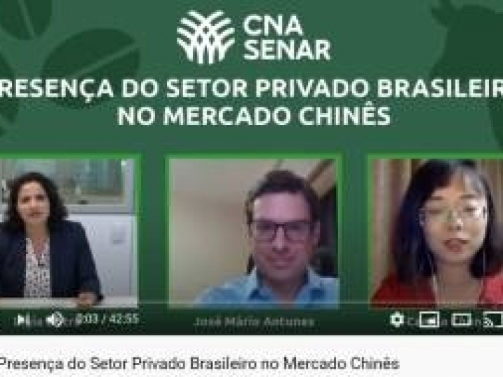 CNA debate presença do setor privado no mercado chinês