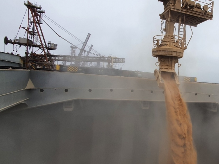 Porto de Paranaguá embarca volume recorde de farelo em um único navio