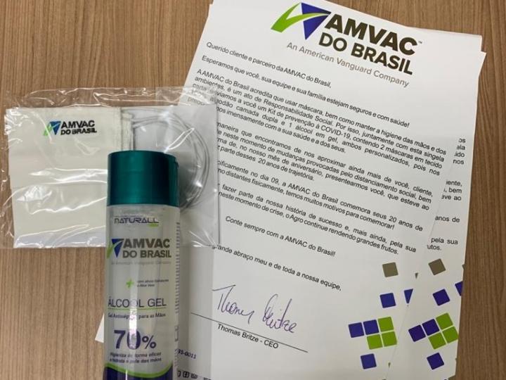 AMVAC realiza ações e doações para combate ao coronavírus