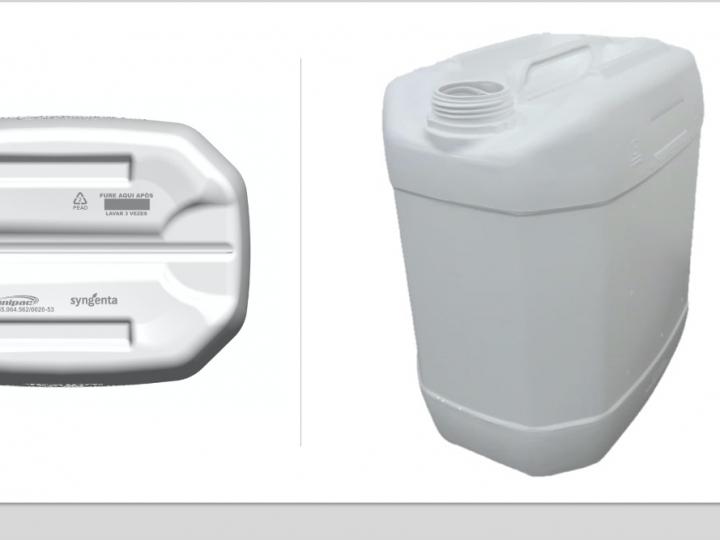 Syngenta utiliza embalagens de resina reciclada para armazenar defensivos agrícolas
