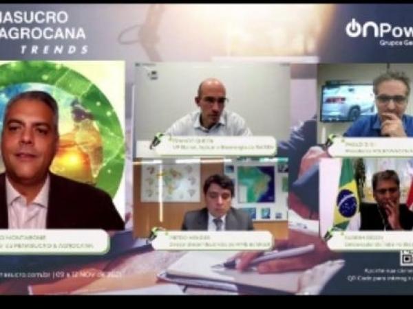 Webinar reuniu governos brasileiro e indiano além de empresários do setor de bioenergia . Foto: Divulgação