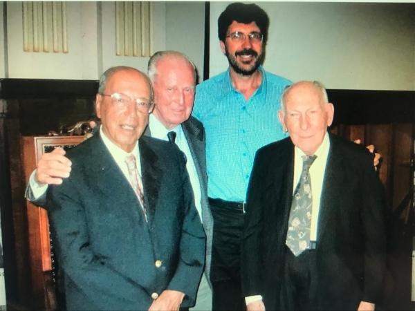 Dr fernando Penteado Cardoso, Dr Norman Borlaug, Dr José Otávio Menten e Dr Walter Accorsi