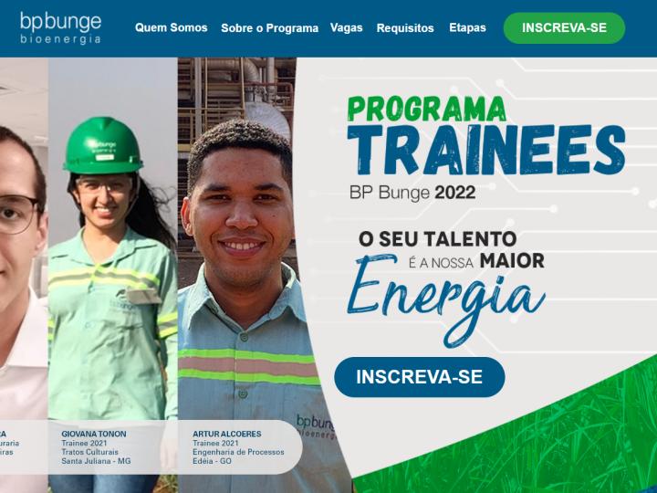 BP Bunge Bioenergia abre inscrições para os programas de Trainees e Jovens Engenheiros